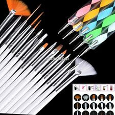 5/15/20 pcs Nail Art Design Dotting Painting Drawing Polish Brush Pen Tool N98B
