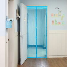 Auto Closing Anti Mosquito Mesh Door Magnet Curtain Screen Net Insect Blue
