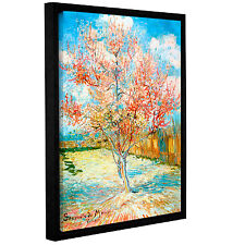 ArtWall Pink Peach Tree by Vincent Van Gogh Framed Painting Print
