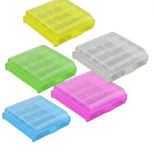 4x Plastic Case Holder Storage Box Cover for Rechargeable AA AAA Battery IK8