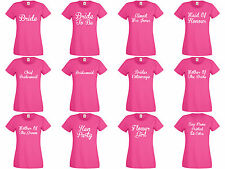 Personalised Hen T Shirts Hen Do Night Party Bride T-shirt Ladies Custom Printed