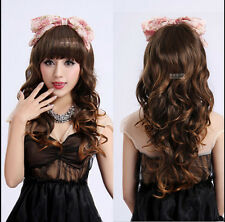 Hot New Womens Fashion Long Full Wigs Wavy Curly Hair Cosplay Party Costume Wig