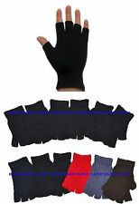 Wholesale Lot 12 Pairs Unisex Knit Fingerless Half Finger Magic Gloves Mittens