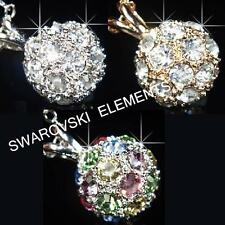 SALE 18K White / Rose Gold Filled use Swarovski Crystal Ball Necklace Xmas P701