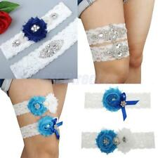 Elastic Lace Wedding Garter Satin Bowknot Flower Pearl Sexy Bridal Prom Garter