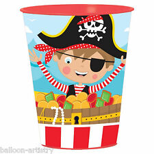 6 Cute Little Pirate Children's Birthday Party Plastic Loot Gift Favour Cups