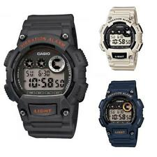 Watch CASIO ILLUMINATOR W-735H Silicone Gray Black Chrono Alarm Sub 100mt