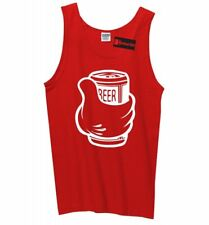 Thumbs Up Beer Funny Mens Tank Top Drinking Beer Lover Party Alcohol Tank Z3