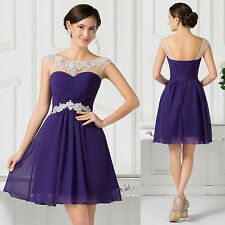 UK Homecoming Short Prom Bridesmaid Evening Gown Dress Size 8 10 12 14 16 18 20
