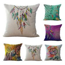 "Throw Decorative 18"" Cotton Linen Dream Catcher Cushion Cover Pillow Case"