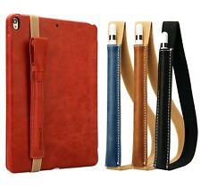 Genuine Leather Case Cover Sleeve Pouch Bag Holder + Strap For Apple iPad Pencil