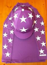 Purple+ white stars Breatheable XC Cross Country Colours Baselayer XS