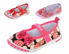 New Baby Girls Canvas Mary Jane Shoes Bow Sequins Polka Dot Slip On Sneakers
