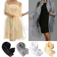 New Women's Chiffon Solid Shawl Wrap Scarves Long Wraps Shawl Beach Silk Scarf