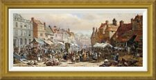 'Market Day, Ashbourne, Near Derby' by Louise Rayner Framed Painting Print