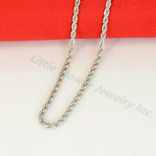 24'' MEN Women Stainless Steel 3mmSilver Smooth Rope Necklace Cross CZ Pendant S