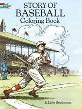 STORY OF BASEBALL COLORING BOOK - NEW PAPERBACK BOOK