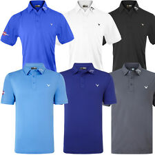 Callaway Golf 2016 Mens Solid Opti-Vent Tour Opti-Dri Performance Polo Shirt