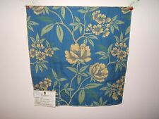 Duralee fabric remnant for crafts floral Treetop Floral Repp Brocade