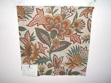 Duralee fabric remnant for crafts floral brocade Mythical Garden Brocade