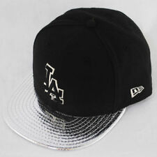 New Era 59fifty LA Dodgers Metallic Slither Silver Fitted 5950 Hat Cap