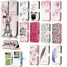 Dual Card Holder Wallet Pouch Case for Samsung iPhone LG Phone PU Leather Cover