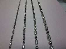 "2.4,3.2,4,4.5mm  7""-42"" SILVER STAINLESS STEEL BALL AND OVAL BEAD CHAIN NECKLACE"