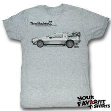Back To The Future Delorean Time Machine Officially Licensed Adult Shirt S-2XL