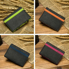 MAGIC MONEY CLIP ID HOLDER STUNNING CREDIT CARD MENS FAUX LEATHER SLIM WALLET
