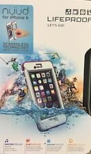 NEW Authentic Lifeproof Nuud Case for iPhone 6 PINK / WHITE Genuine Waterproof