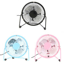 "4"" Mini USB Cooling Desk Fan Cooler PC Laptop Computer Metal Super Mute Portable"