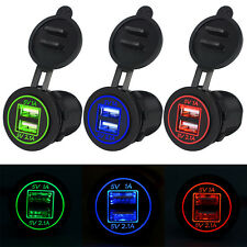 12V-24V 2 Port USB Car Charger Power Adaptor Cigarette Lighter Socket Splitter