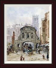 Global Gallery Temple Bar, London by Louise Rayner Framed Painting Print