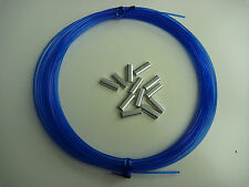 Speargun Mono Spearfishing Line 20 Metres BLUE 1.6mm / 1.8mm +12 Alloy Crimps