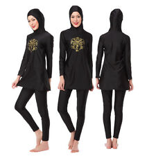 Muslim Summer Modesty Swimwear Swimsuit Full Cover Islamic Beachwear Swimming