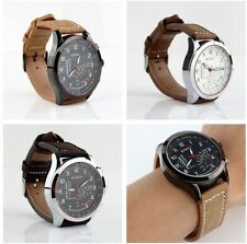 CURREN Men's Stainless Steel Faux Leather Strap Watch Quartz Analog Wrist Watch