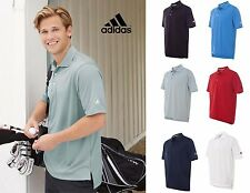 NEW Adidas ClimaLite textured solid performance Polo Shirt golf gym S-3XL A170