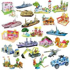 3D Paper Puzzle Creative Construction Craft Kit Jigsaw Model Toys FOR Kids Child