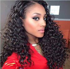 3 Bundles Deep Wave 100% Human Hair Extensions Weft Brazilian Virgin Remy Hair