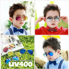 Newest Cool Sunglasses Girl Boy Metal Frame Children Kids Aviator UV Sun Glasses