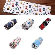 36 Holes Canvas Pencil Bags Case Cosmetic Pouch Pocket Makeup Brushes Holder New