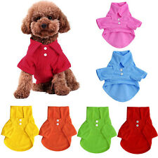 Cute Dog Pet Puppy Summer Polo Shirt Small Dog Cat Pet Clothes Apparel T-Shirt