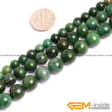 """Natural Green Africa Jade Jadeite Round Beads For Jewelry Making 15""""6mm 8mm 10mm"""