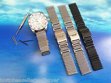 SHARK MESH WATCH STRAP BAND BRACELET 22mm, 24mm For Deep Blue Divers Watches