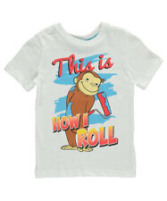 """Curious George Little Boys' Toddler """"This is How I Roll"""" T-Shirt (Sizes 2T - 4T"""