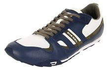 IN BOX DIESEL Men's Vaporous Grey White Gunner 12 Casual Leather Sneakers Shoes