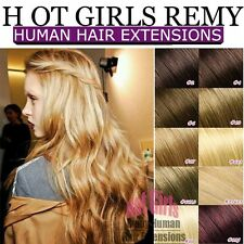 THICK 100% Remy Human Hair Extension DIY Clip In Full Head Double Weft US XL700