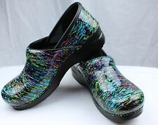 Dansko Professional Highlighter Patent Leather Clog Doctor/Nurses Shoe Klog