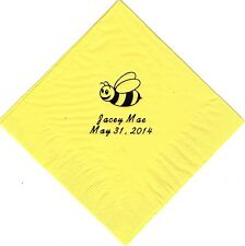 BUMBLE BEE LOGO 50 Personalized printed LUNCHEON DINNER napkins