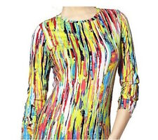 NEW! Prabal Gurung For Target Long Sleeve Tee in Nolita Rainbow Print Size XS M